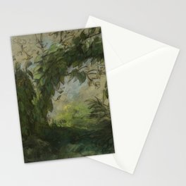 "Eugène Delacroix ""Arch of Morning Glories, study for A Basket of Flowers"" Stationery Cards"