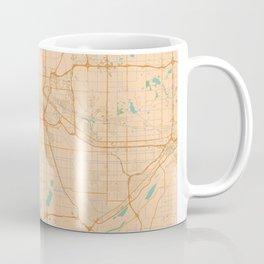 Minneapolis Map - Color Coffee Mug