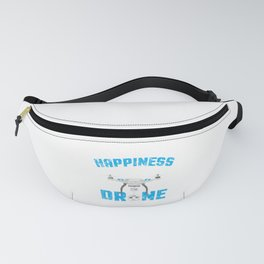 Can't Buy Happiness You Can Buy A Drone Distressed Fanny Pack