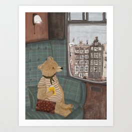 a new adventure for bear Art Print