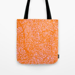 Summer Orange Saffron - Abstract Botanical Nature Tote Bag