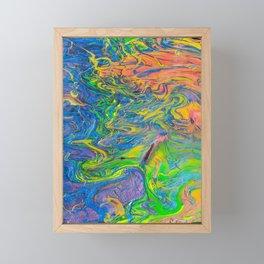Rainbow Swirls Framed Mini Art Print