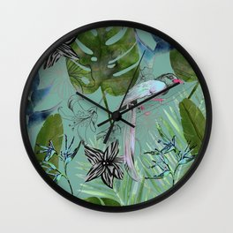tropical forest Wall Clock