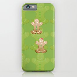 Gingerbread boy and girl iPhone Case