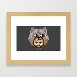 wolf kills jay Framed Art Print