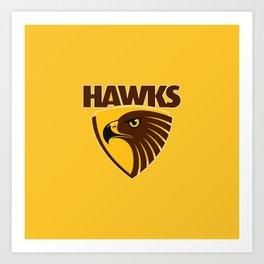HAWKS AFL Art Print