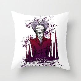 Dracula version 2 Throw Pillow