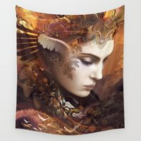 autumn Wall Tapestries featuring Autumn by AlexToothArt