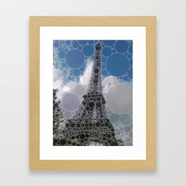 Eiffel Tower - Graphic Circles Framed Art Print