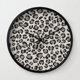 Grey Leopard Print | Just Gray | Neural Grey Wall Clock