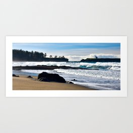 Lighthouse from the Beach - Oregon Art Print