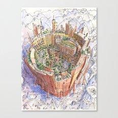La Citta' Circolare Canvas Print