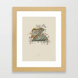 Celtic Initial Z Framed Art Print