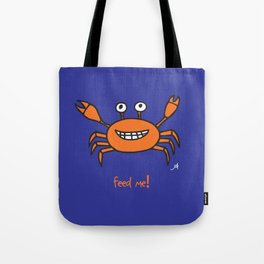 Mr and Mrs Cabby Amanya Design Blue Single FEED ME! Tote Bag
