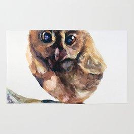 WATERCOLOR BABY OWL WOODLAND ANIMALS NURSERY COLLECTION Rug