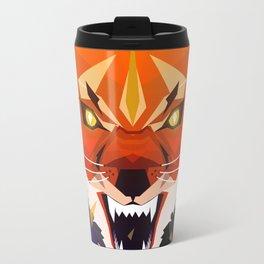 Ferocious Geometric Fox Travel Mug