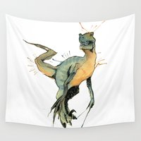dinosaur Wall Tapestries featuring Dinosaur by Nicola Girello