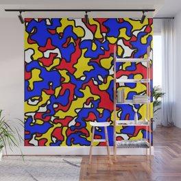 Mondrian Camouflage Wall Mural