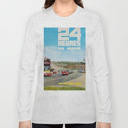 1965 Le Mans poster, Race poster, car poster, garage poster Long Sleeve T-shirt