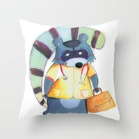 doctor Throw Pillows featuring doctor by miremari