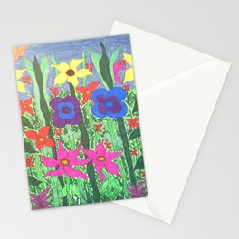 Bohemian Garden Floral Ilustration Stationery Cards