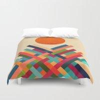 sun Duvet Covers featuring Sun Shrine by Picomodi