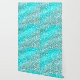 Aqua Teal Ocean Glitter #1 #shiny #decor #art #society6 Wallpaper