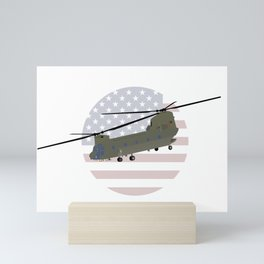 Military CH-47 Chinook Helicopter Mini Art Print