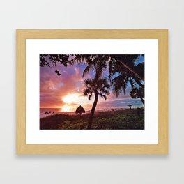 Pinky Palms in Naples Framed Art Print