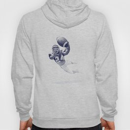 Football receiver making a fantastic catch. Hoody