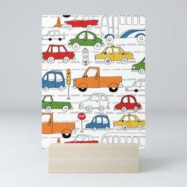 Busy Traffic Pattern Mini Art Print