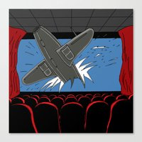 cinema Canvas Prints featuring Cinema by AdamSteve