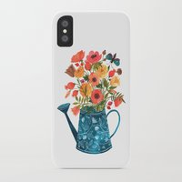 oana befort iPhone & iPod Cases featuring Garden Flowers by Oana Befort