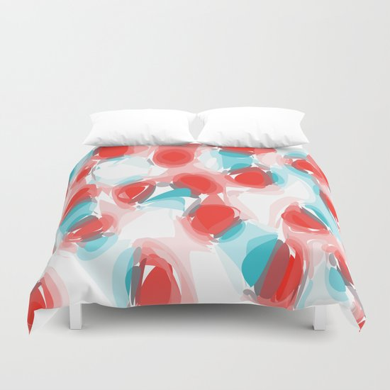 red blue way Duvet Cover