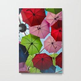 Colorful umbrellas. Metal Print