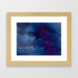 Clouds in a Stormy Blue Midnight Sky Framed Art Print