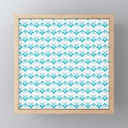 Blue Flower Framed Mini Art Print