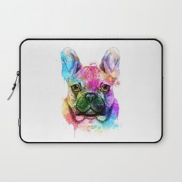 French bulldog Watercolor Laptop Sleeve