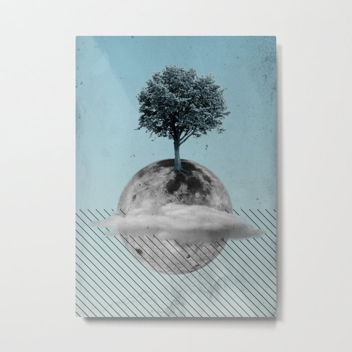 This Is How We Walk On The Moon Metal Print