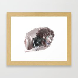Will Graham in a collar Framed Art Print