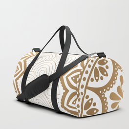 Gold Mandala 13 Duffle Bag