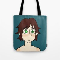 hiccup Tote Bags featuring Hiccup  by Gio Garcia