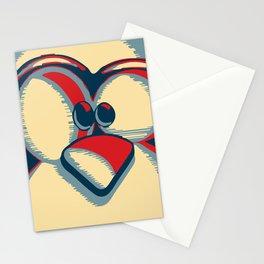 Linux tux penguin obama poster logo Stationery Cards