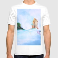 Dreaming Of Nicaragua White Mens Fitted Tee MEDIUM