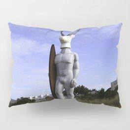 Veado Surfer Statue Standing Tall Pillow Sham