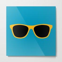 Yellow Sunglasses Metal Print