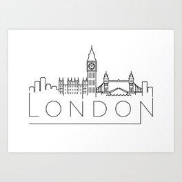 Minimal London Skyline Design Art Print