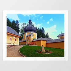 The Kalvarienberg church of Schenkenfelden I | architectural photography Art Print