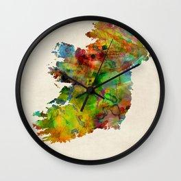 Ireland Eire Watercolor Map Wall Clock