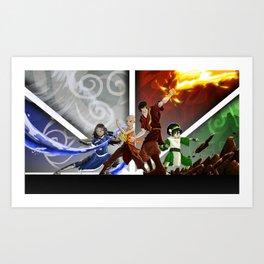 Avatar: The Four Elements Art Print